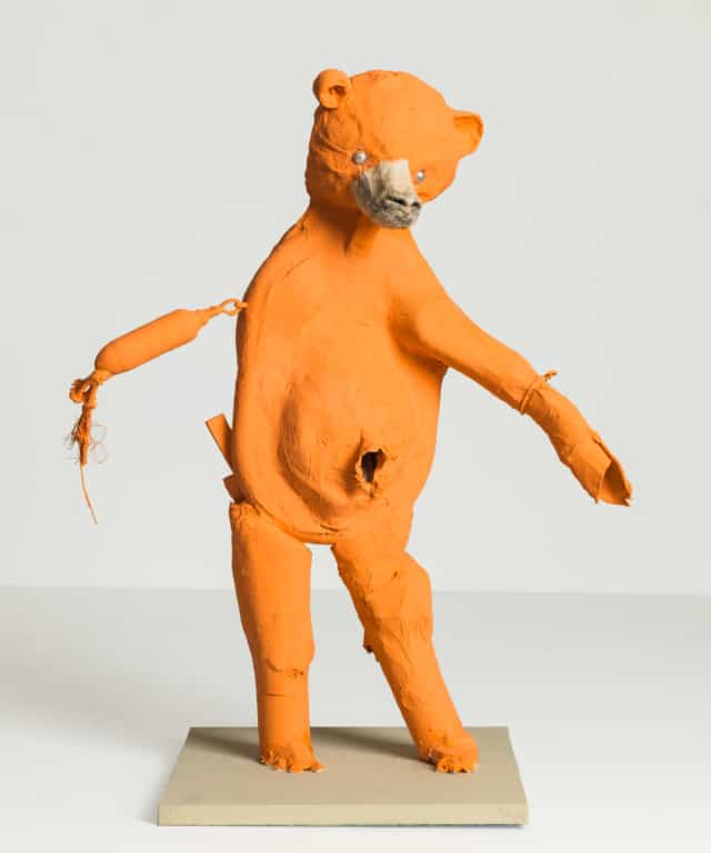 Ours orange Technique mixte ©Denis Polge