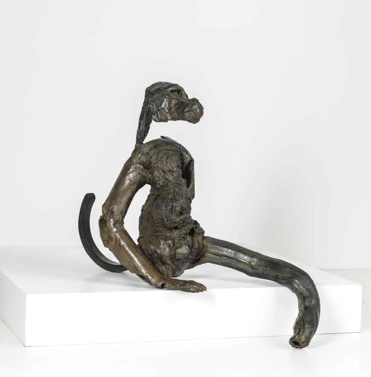Singe assis Bronze ©Denis Polge