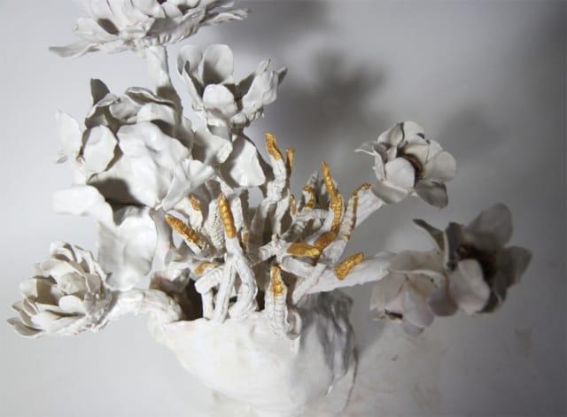 Bouquet Tournesol 9, 2018 Céramique H 43 x D 37 cm, BC-CER1802 ©BACHELOT&CARON (collection privée)