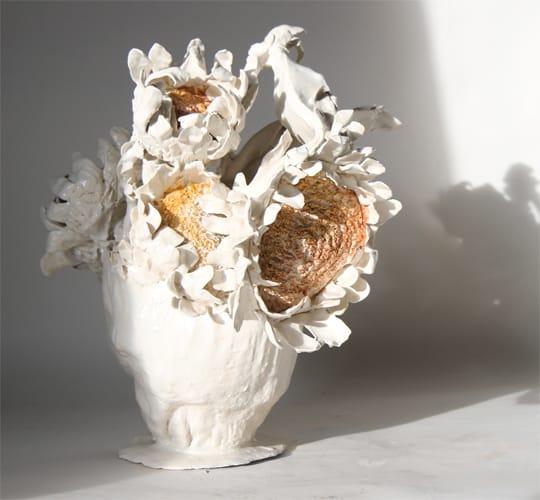 Bouquet Tournesol 4, 2018 Céramique H 45 x 40 x 40 cm, BC-CER1807 ©BACHELOT&CARON (collection privée)