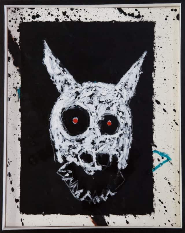 Donnie Drako, 2019 Craie, acrylique, pastel et encre de chine 42 x 33,5 cm, (collection privée) ©ROCHEGAUSSEN
