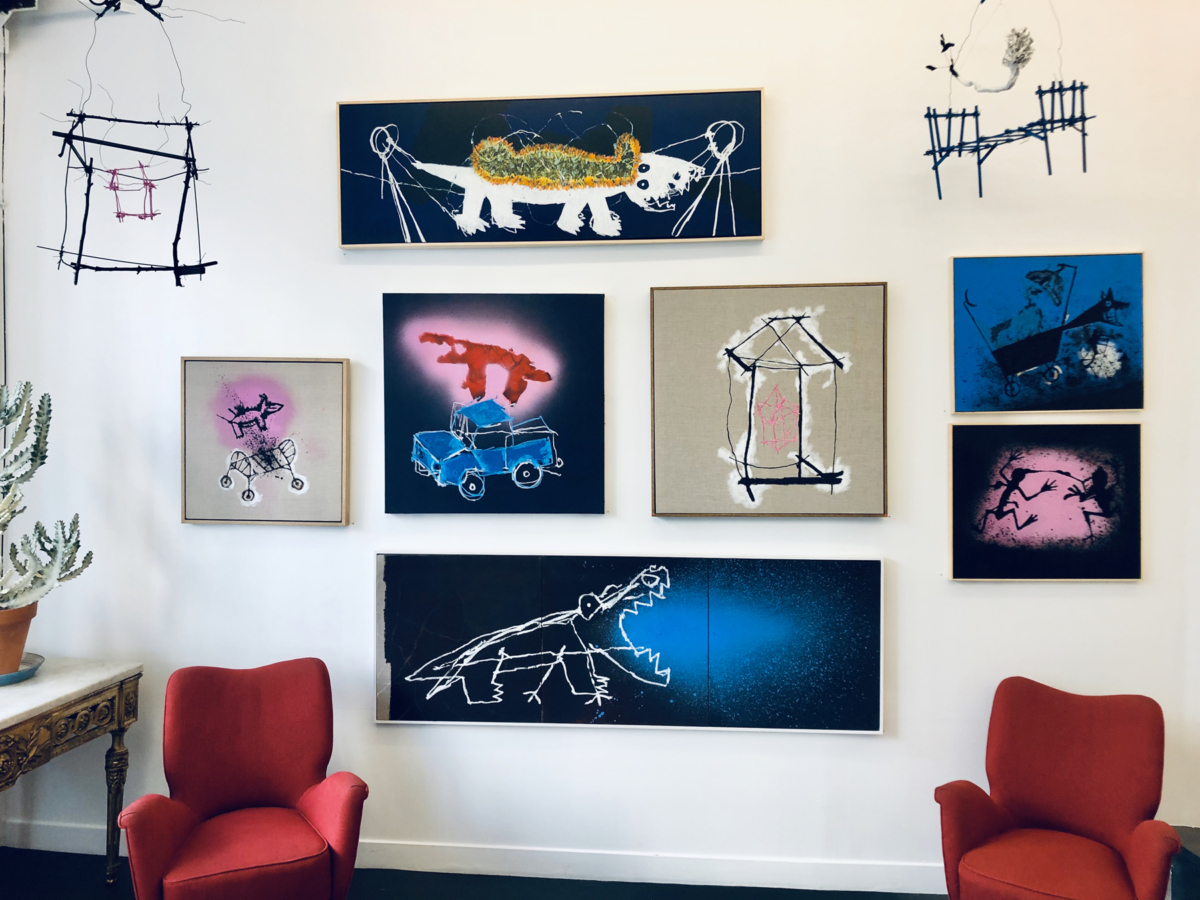 """Vue exposition """"Ferme les yeux"""" à la School Gallery du 17 septembre au 10 octobre 2020"""