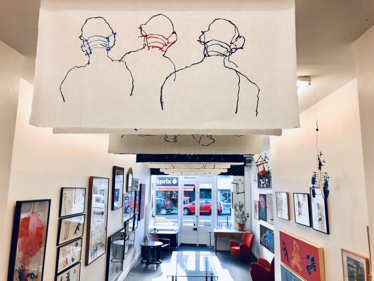 """Rochegaussen ... vue d'exposition """"Ferme les yeux"""" à la School Gallery du 17 septembre au 10 octobre 2020"""