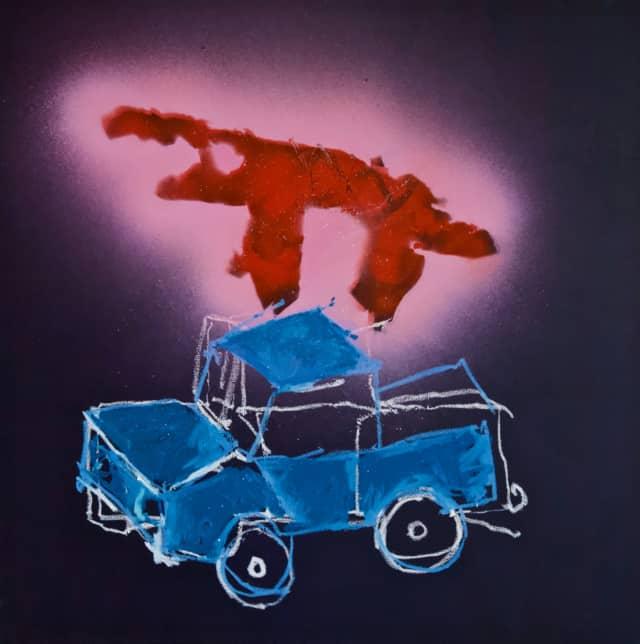 Jiminy Cricket, 2020 Acrylique et huile sur toile 80 x 80 cm, RG-20011 ©ROCHEGAUSSEN