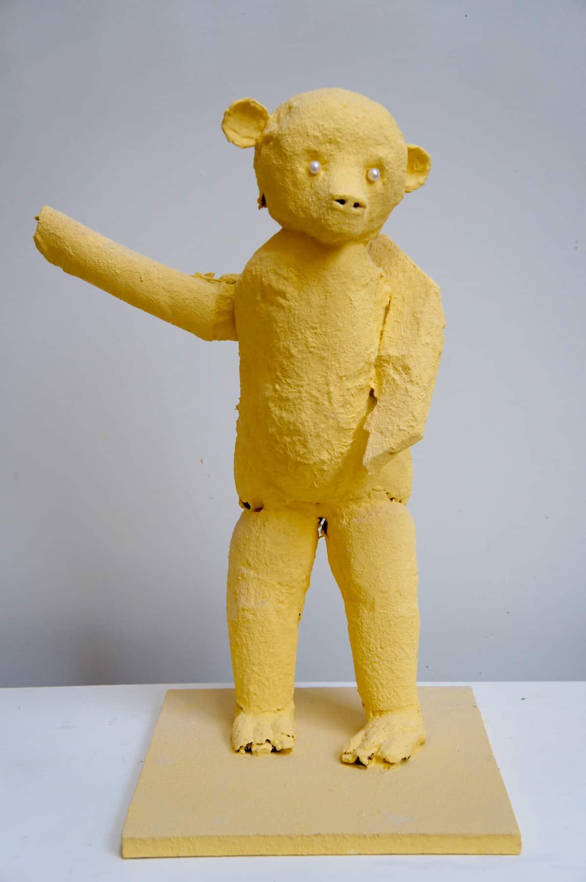 Ours jaune, 2020 Technique mixte 30 x 40 x 60 cm, DP059 ©Denis Polge