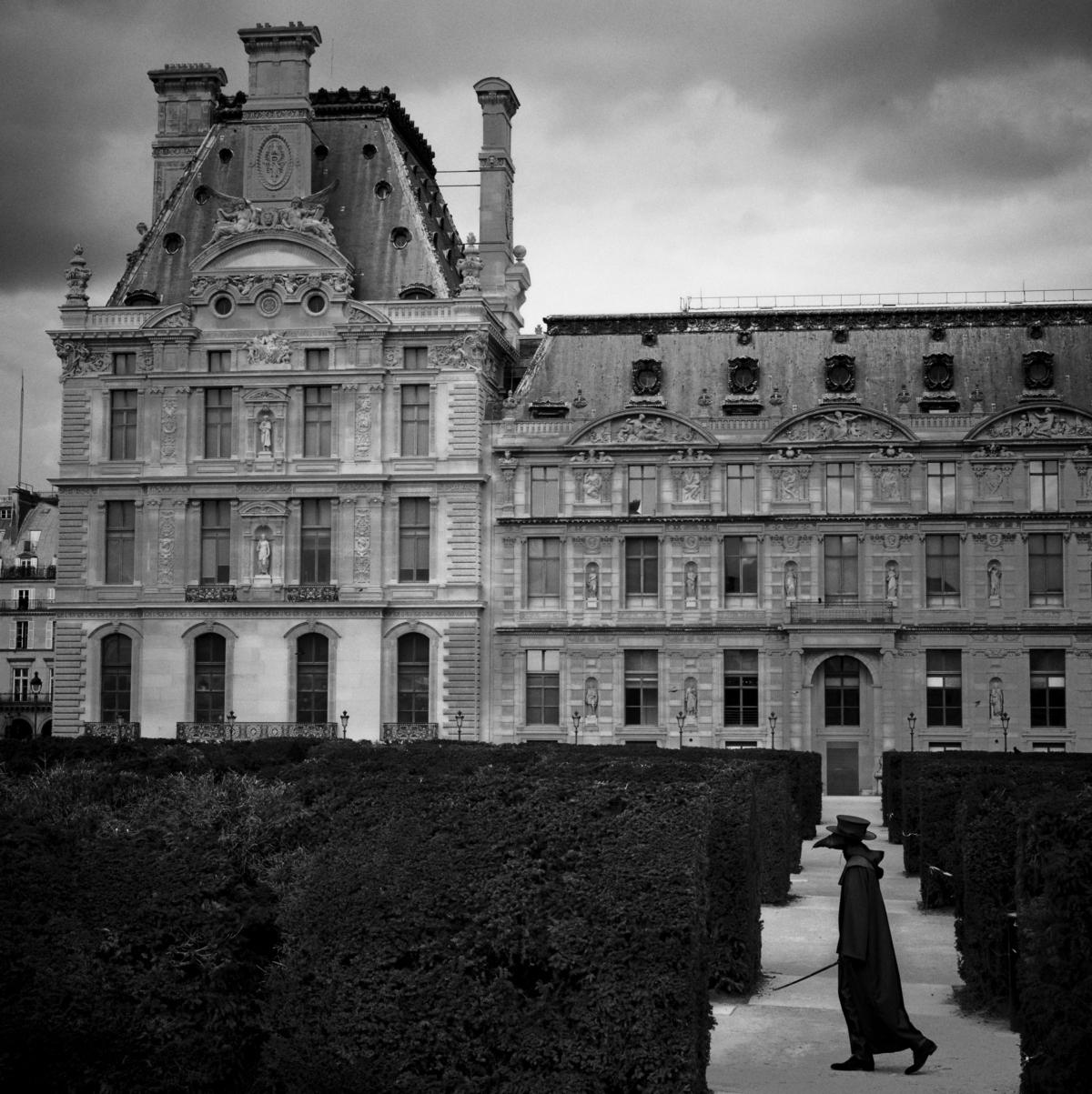 Jardins du Louvre, Paris, mars 2020 Fine Art print sur papier Hahnemühle 25 x 25 cm, SG-DP03 ©Stephan Gladieu