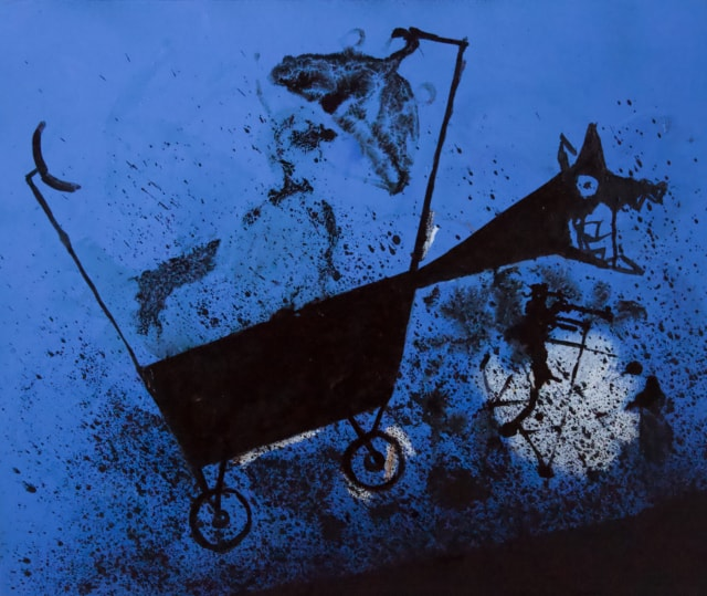 Lunaire hybride, 2020 Encre de chine et acrylique sur toile 34 x 79 cm, RG-20078 ©ROCHEGAUSSEN