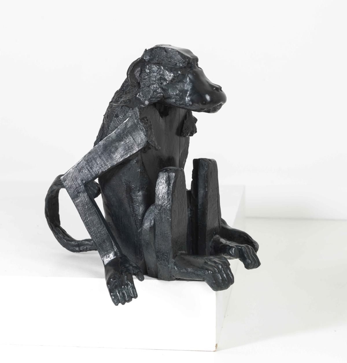 Singe Sculpture en bronze ©Denis Polge