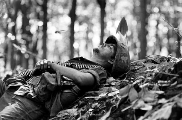 Le repos. Soldat américain. Guerre du Vietnam, Sud Vietnam, novembre 1967, GC-05751-06 ©Fondation Gilles Caron
