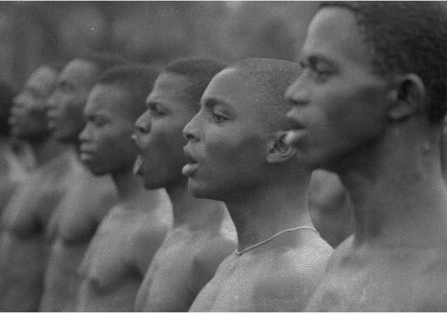 L'entraînement des soldats biafrais, sécession de la province du Biafra, 1968, GC-9514-27 ©Fondation Gilles Caron