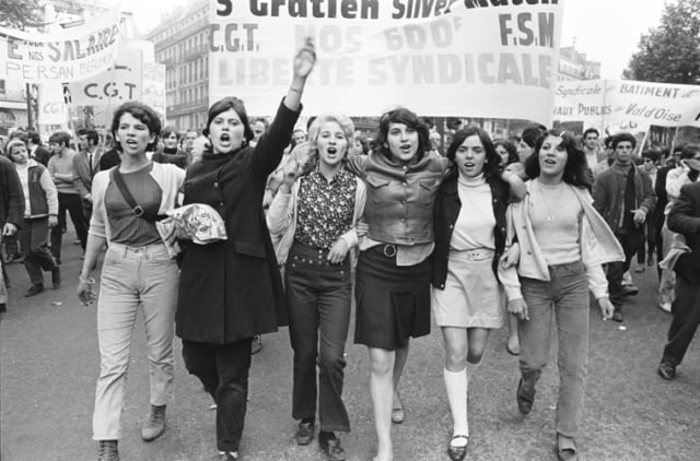 Manifestation CGT, rue de Havre. Paris, 29 mai 1968, GC-08630-36A ©Fondation Gilles Caron