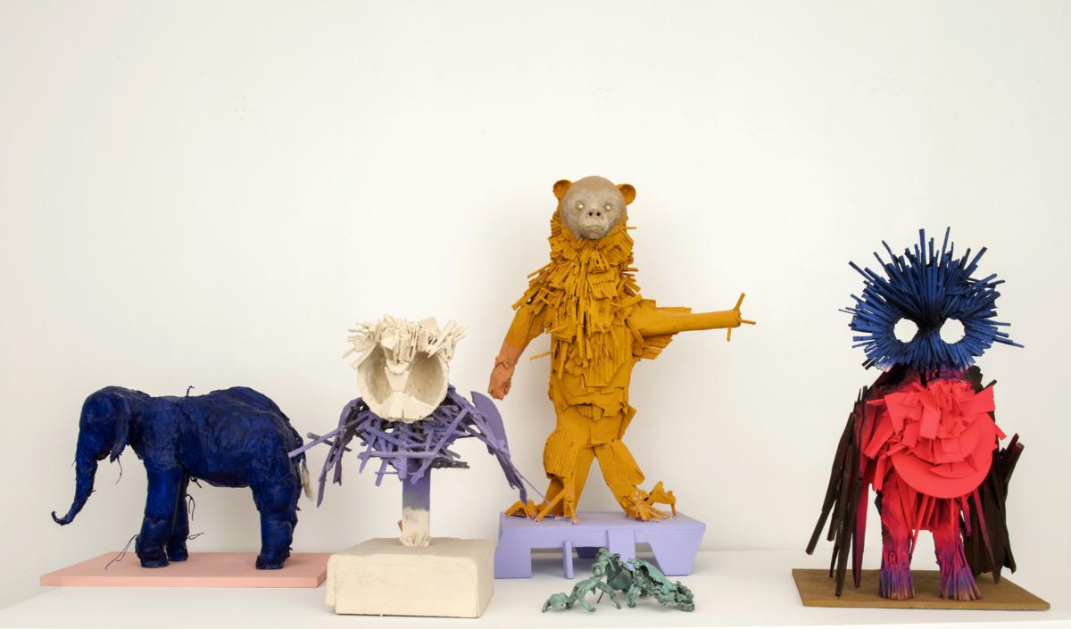 """Bandeau 2 Installation """"Les Joyeux"""" Denis Polge Exposition 15.10 - 12.12.20"""