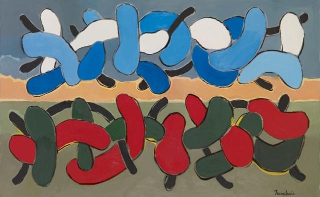 Untitled #35, 2004 Acrylique sur toile 73 x 116 cm DT04-035 ©Dean Tavoularis