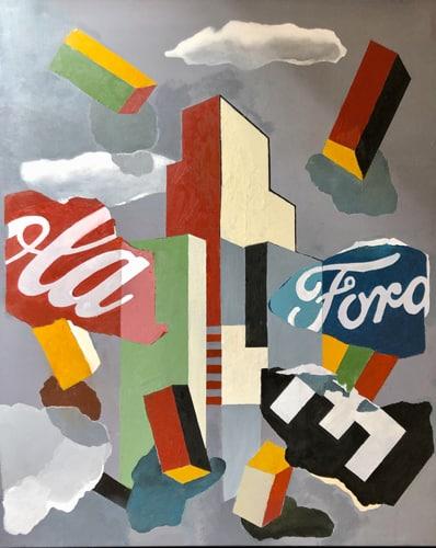 Untitled #18, 2018 Peinture, acrylique sur toile 100 x 80 cm DT18-037 ©Dean Tavoularis