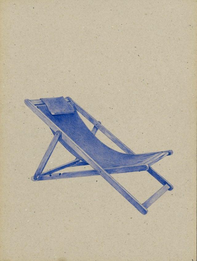Transat (XIXème siècle), 2016 Stylo à bille sur carton 40 x 30 cm, KO-1620 ©KONRAD