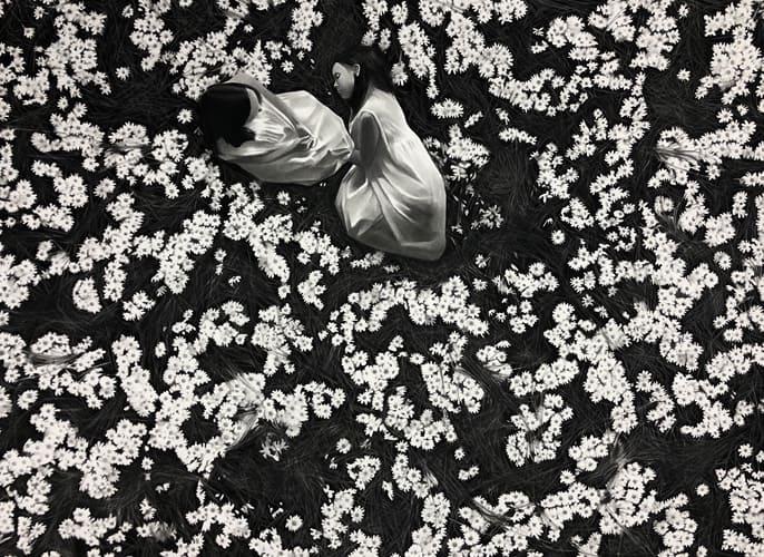Marguerite, 2019 Dessin à la pierre noire sur papier 66 x 86 cm, RT967 ©Raphaël Tachdjian (collection privée)