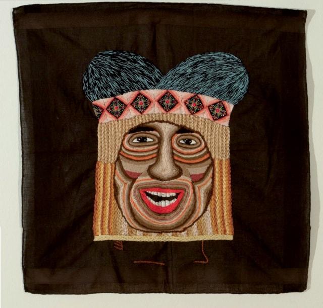 Los Herederos 4A Broderie à la main, fil de coton, rayon et appliques sur mouchoir d'homme ©CHIACHIO&GIANNONE