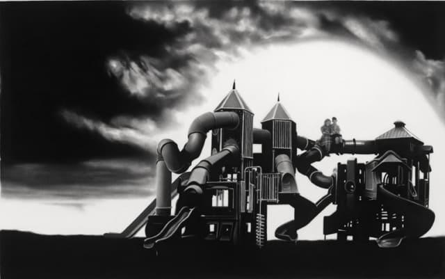 Le château, 2016 Dessin à la pierre noire sur papier 62,5 x 96,5 cm, RT884 ©Raphaël Tachdjian