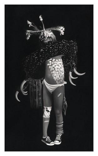 Vogue à l'âme #2, 2016 Dessin à la pierre noire sur papier 100 x 65 cm, RT912 ©Raphaël Tachdjian