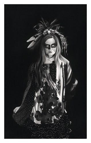 Vogue à l'âme #3, 2016 Dessin à la pierre noire sur papier 100 x 65 cm, RT913 ©Raphaël Tachdjian (collection privée)