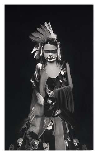 Vogue à l'âme #4, 2016 Dessin à la pierre noire sur papier 100 x 65 cm, RT914 ©Raphaël Tachdjian