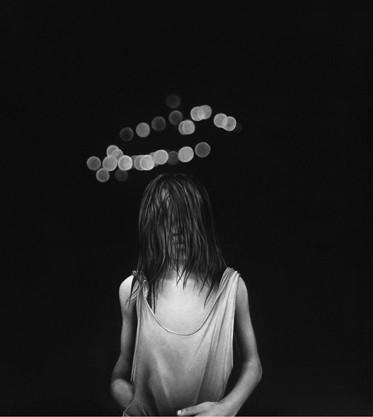 Charline, 2017 Dessin à la pierre noire sur papier 69,8 x 63,5 cm, RT916 ©Raphaël Tachdjian (collection privée)