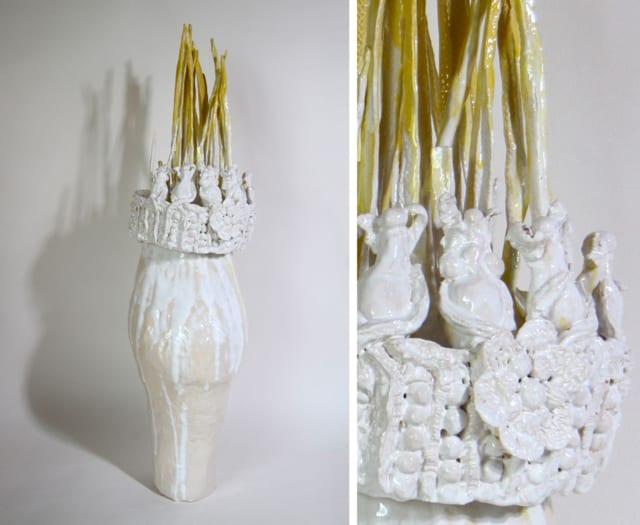 Vase couronne gauche, 2020 Céramique 60 x 44 cm, BC-2010 ©Bachelot & Caron
