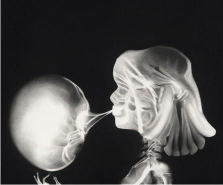 Charline, 2014 Ceux qui naissent dans les fractures Dessin à la pierre noire sur papier 65 x 65 cm, RT19009 ©Raphaël Tachdjian
