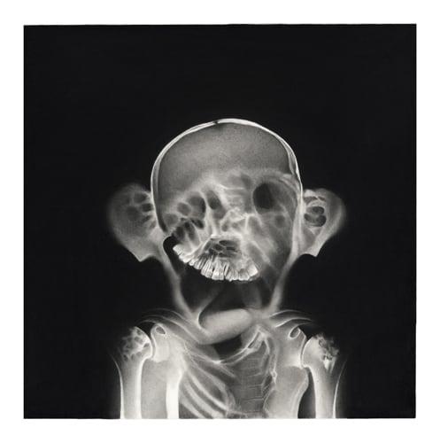 Sébastien, 2014 Ceux qui naissent dans les fractures Dessin à la pierre noire sur papier 65 x 65 cm, RT906 ©Raphaël Tachdjian (collection privée)