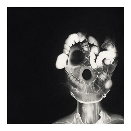 Christophe, 2014 Ceux qui naissent dans les fractures Dessin à la pierre noire sur papier 65 x 65 cm, RT19004 ©Raphaël Tachdjian