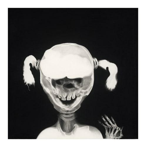 Lucille, 2014 Ceux qui naissent dans les fractures Dessin à la pierre noire sur papier 65 x 65 cm, RT19007 ©Raphaël Tachdjian
