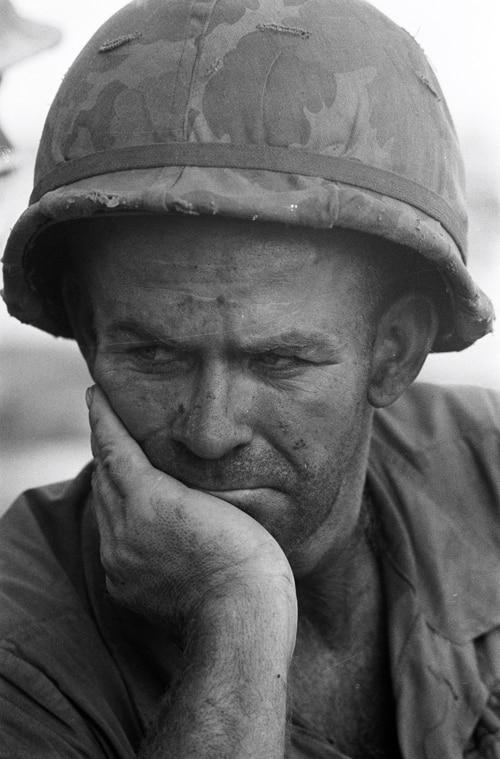 Soldat américain, Guerre du Vietnam, novembre 1967, GC-05754-17A ©Fondation Gilles Caron