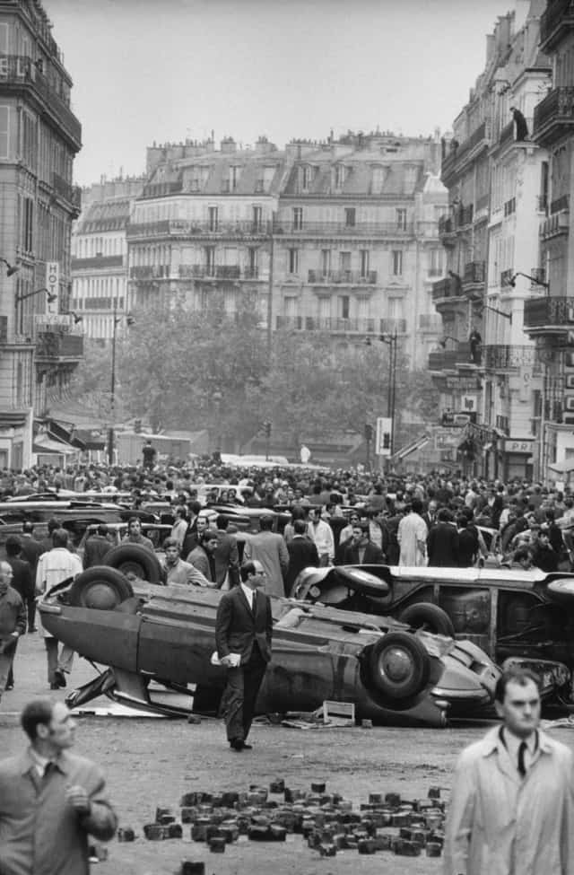 Quartier latin, Paris, 11 mai 1968, GC-08214-24A ©Fondation Gilles Caron