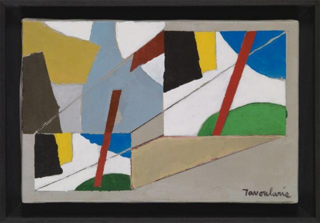 Untitled #68, 2005 Huile et acrylique sur toile 27 x 41 cm, DT21-014 ©Dean Tavoularis