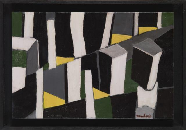 Untitled #70, 2004 Huile sur toile carton 41 x 27 cm, DT21-016 ©Dean Tavoularis