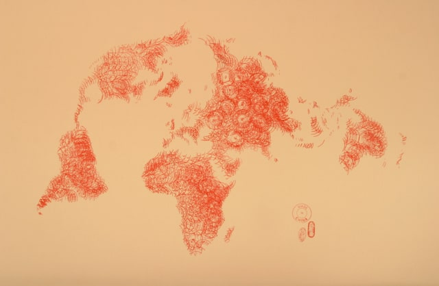 Made in China, 2012 Encre sur papier, 80 x 120 cm ©Ghyslain Bertholon