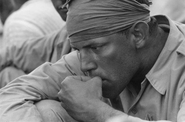 Soldat américain, guerre du Vietnam, 1967, GC-02928A-35 ©Fondation Gilles Caron