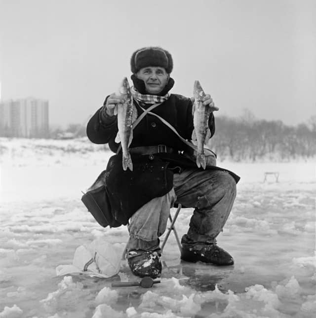 Portrait d'un pêcheur, Russie, avril 2010 Portrait d'un pêcheur, avril 2010 ©James Hill