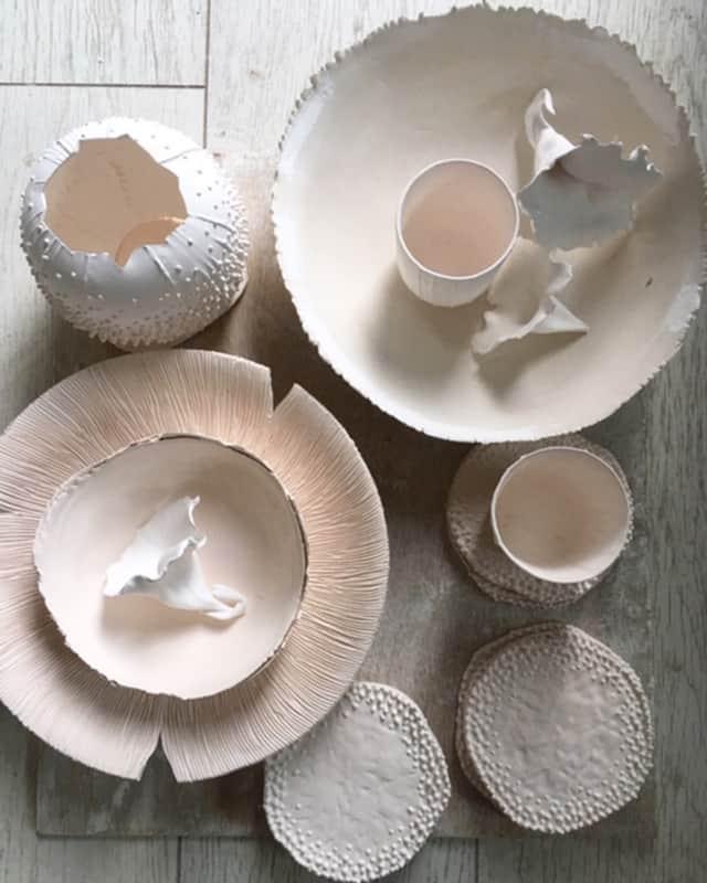 Plats en porcelaine ©Virginie Boudsocq