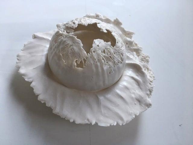 Plat en porcelaine ©Virginie Boudsocq
