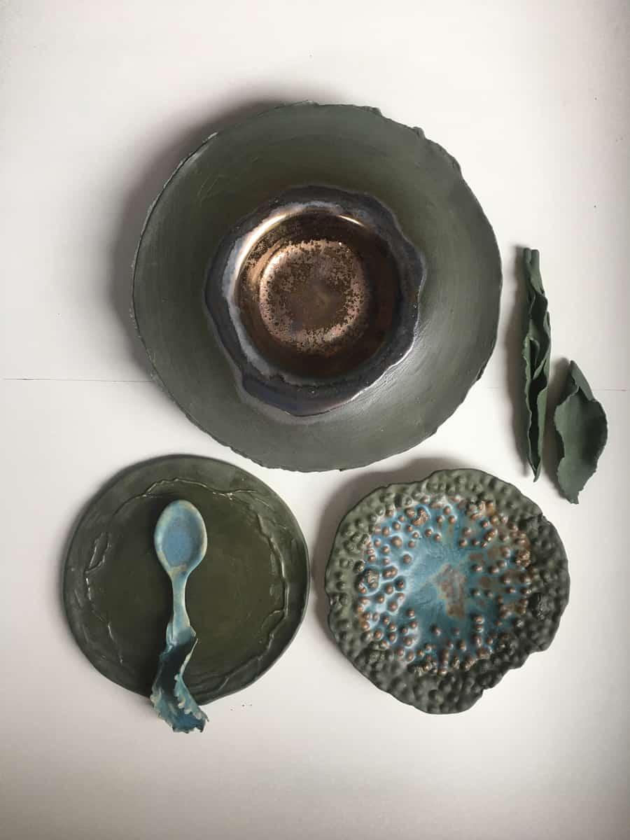 Set de table, porcelaine ©Virginie Boudsocq