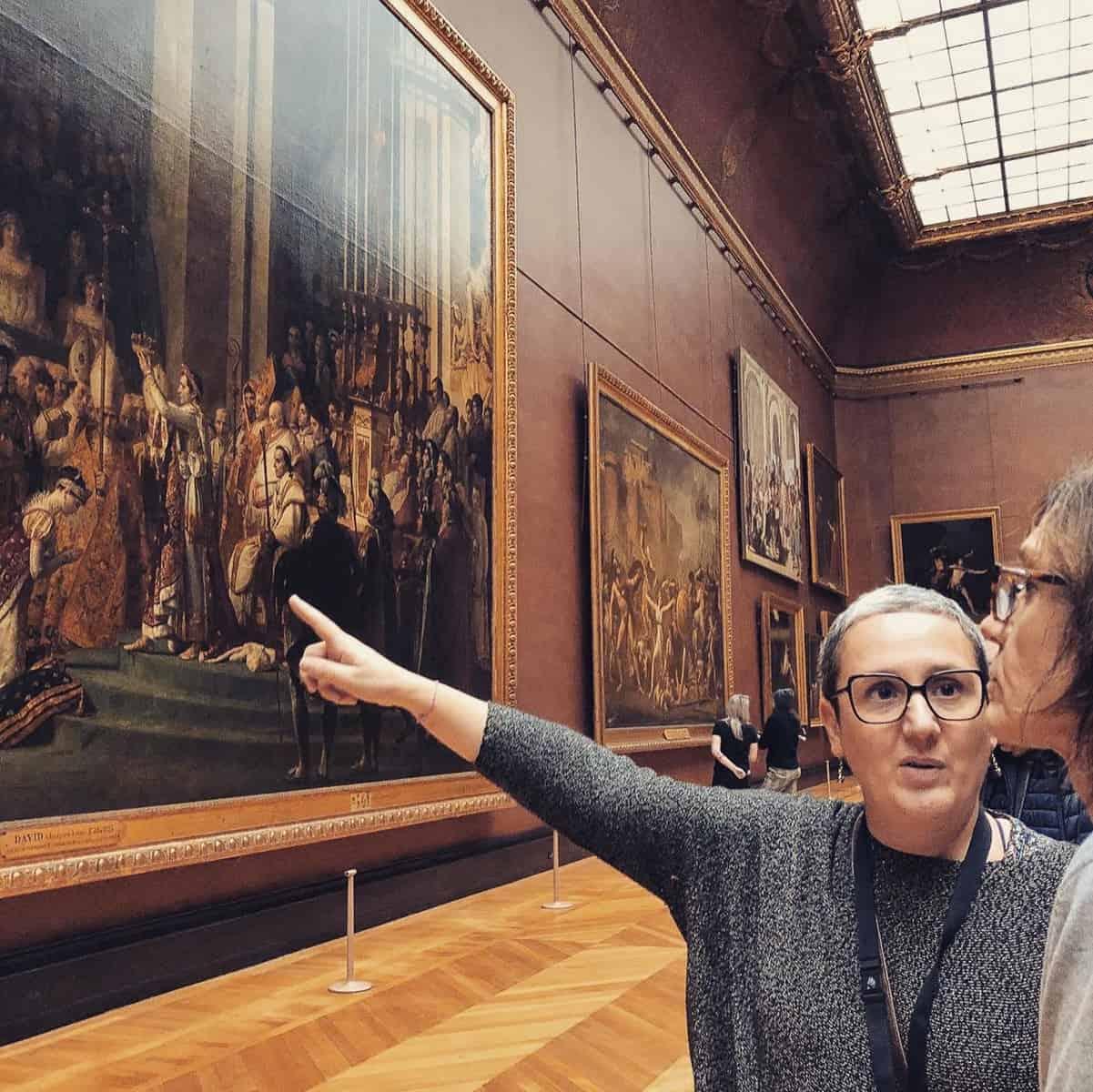 Les visites de Marta, musée du Louvre, Paris