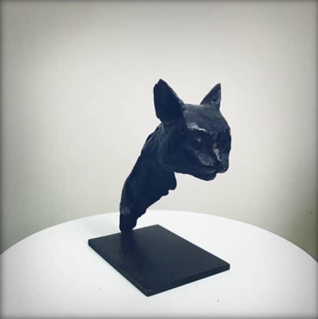 Tête de chat Sculpture en bronze (pièce unique) 10,5 x 7,5 x 14,5 cm DP011 ©Denis Polge