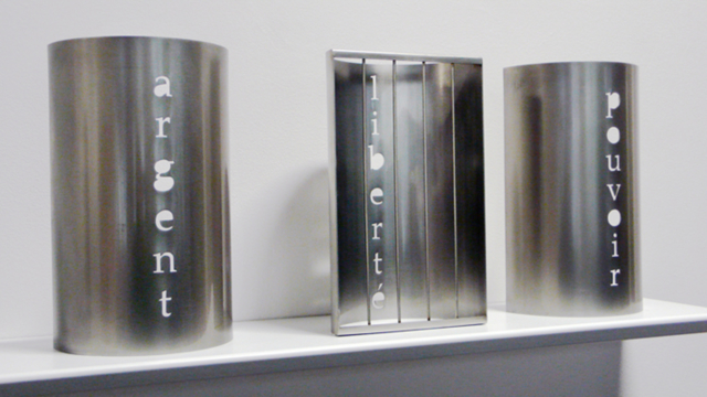 Argent, liberté, pouvoir, 2009 Aluminium ©Marie Orensanz