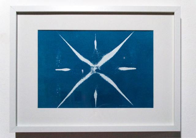 Blue waves 3 Cyanotype, 42 x 32 cm ©Cécile Le Talec