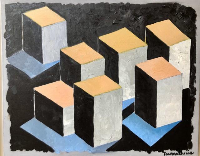 Untitled #30, 2003 Acrylique sur toile 33 x 41 cm ©Dean Tavoularis