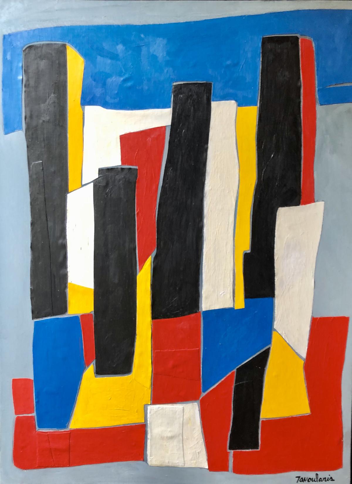 Untitled #17, 2004 Acrylique sur toile 81 x 60 cm ©Dean Tavoularis