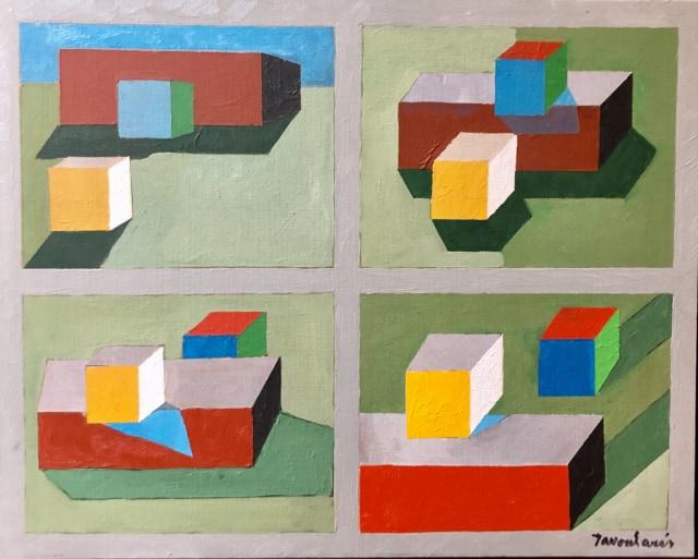 Untitled #21, 2005 Huile sur toile carton 40 x 50 cm ©Dean Tavoularis