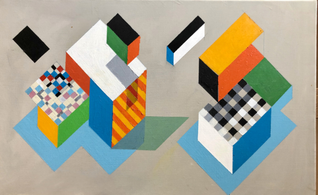 Composition, 2019 Acrylique sur toile 60 x 38 cm ©Dean Tavoularis