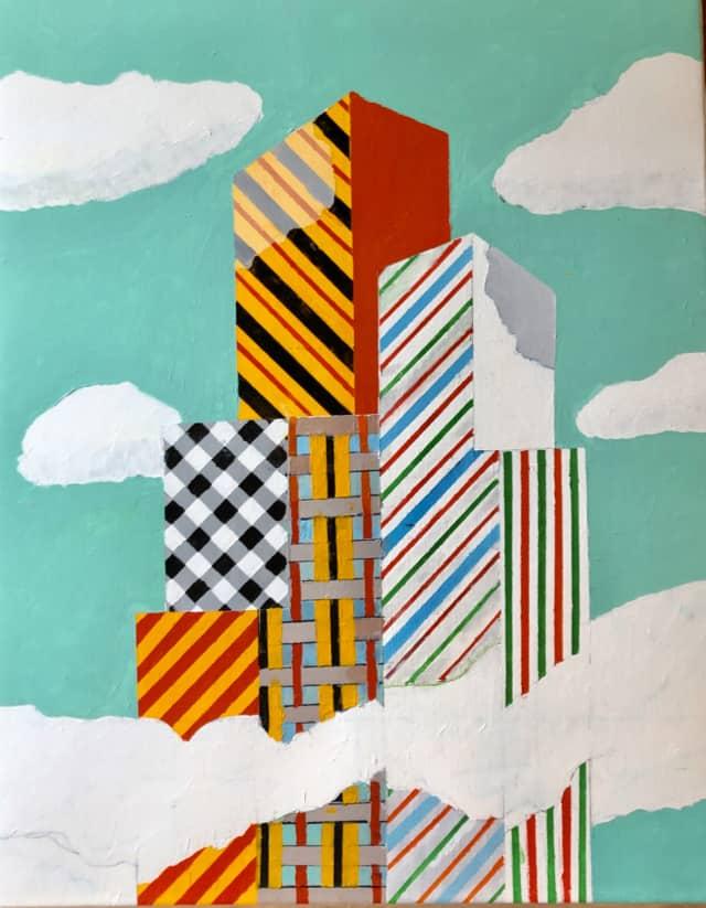 Summer City, 2020 Acrylique sur toile DT20-003 - ©Dean Tavoularis